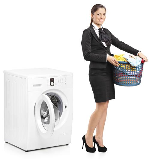 Waschmaschine-Frau